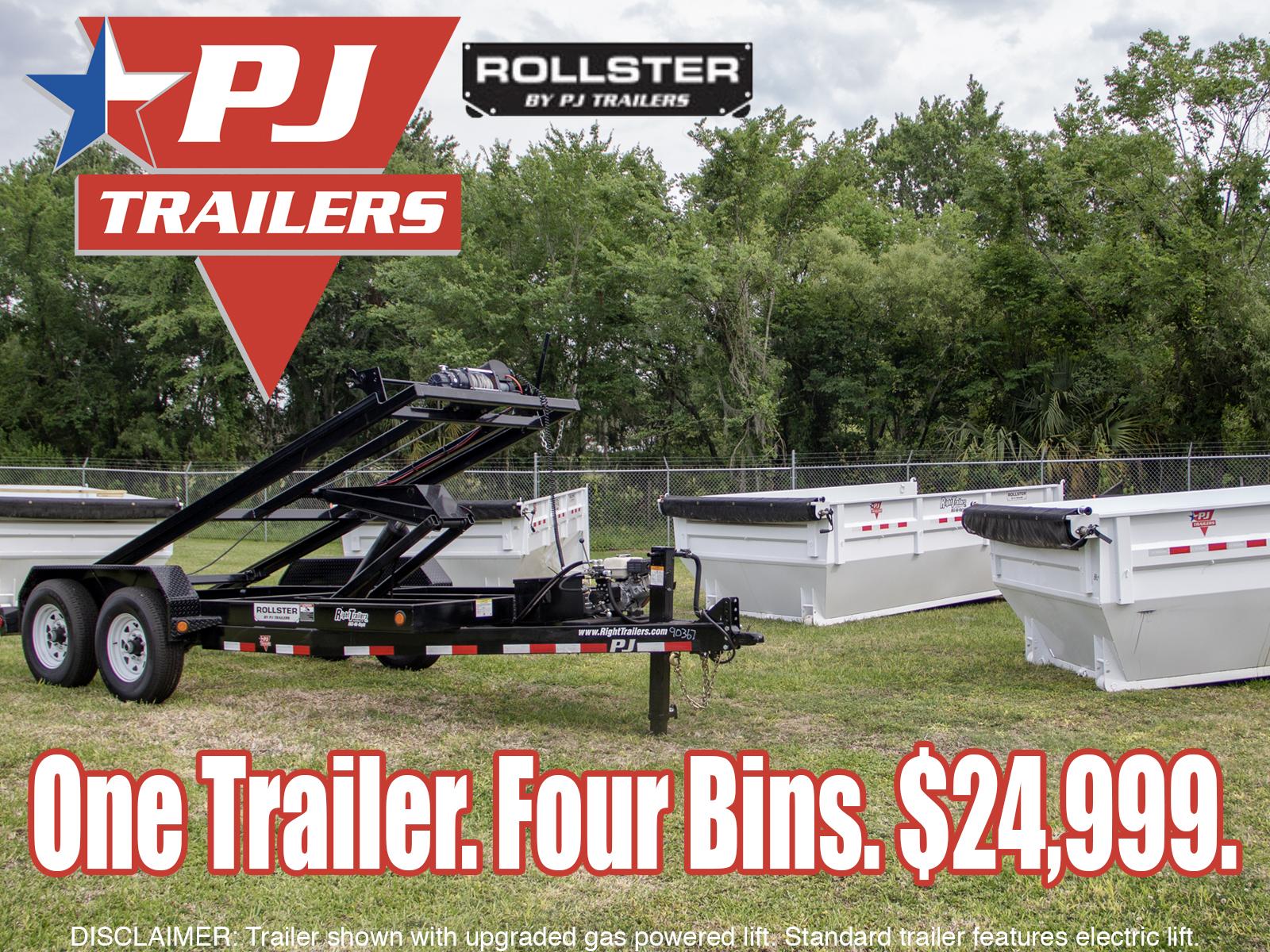 PJ Trailers Roll Off Dump Trailer