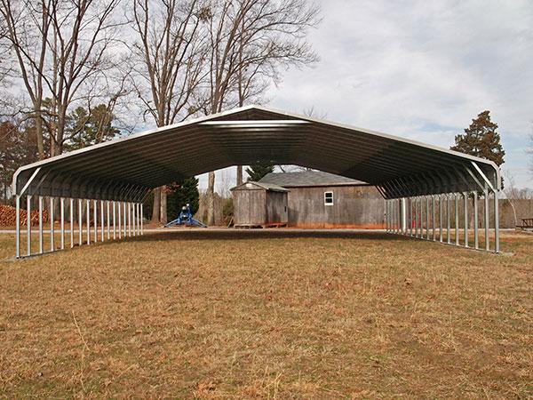 Bent Bow Carport with 2x3 framing