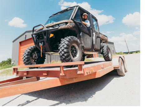 Loading an ATV on your Trailer