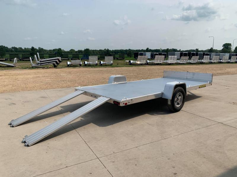 """2022 Aluma 81"""" x 14' Front Ramp Aluminum Open Utility Trailer"""