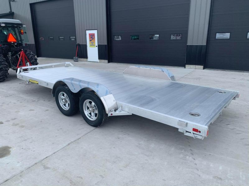 "2022 Aluma 82"" x 18' 7K GVWR All Aluminum Car / Racing Trailer w/ Slideout Ramps"