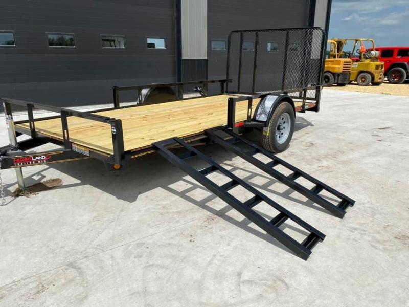 2020 Heartland 7' x 14' ATV TRAILER Front Side Load Ramps & 4' Gate Open Utility Trailer