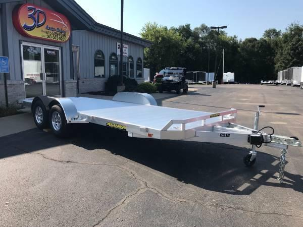 "2021 Aluma 82"" x 16' 7K GVWR All Aluminum Car / Racing Trailer w/ Slideout Ramps"
