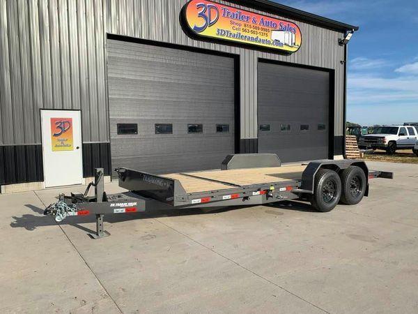 2022 Travalong Trailers 20' 14K Split Deck Tilt Bed Equipment Trailer
