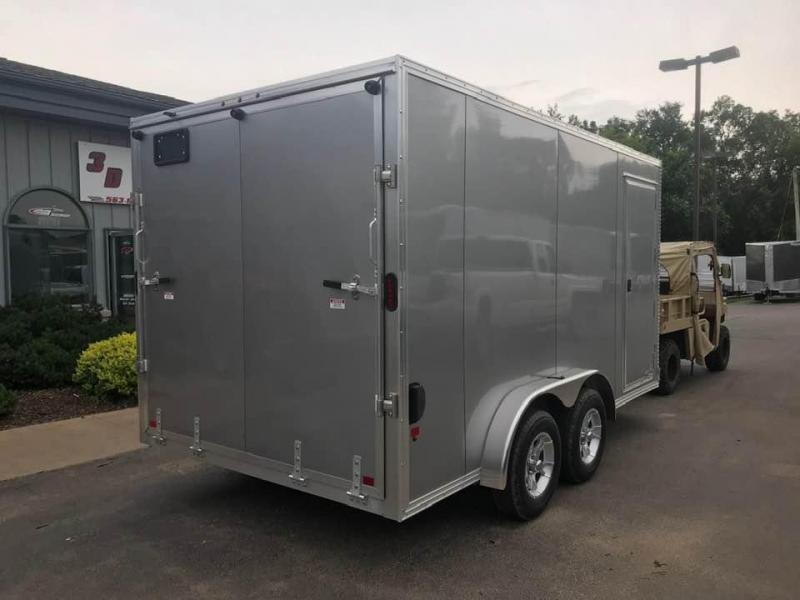 "2020 CargoPro 7.5' x 14' x 6'9"" Stealth Extra Tall Aluminum Cargo Enclosed Trailer w/ Ramp Door"