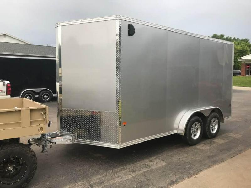 "2020 CargoPro 7.5' x 14' x 6'9"" Stealth Extra Tall Aluminum Cargo Enclosed Trailer w/ Ramp Door"