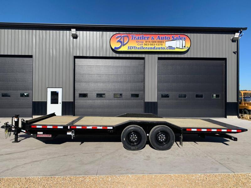 "2022 Midsota TBWB 102"" x 24' 17600LB GVWR Wide Body Drive Over Fenders Tilt Bed Equipment Trailer"