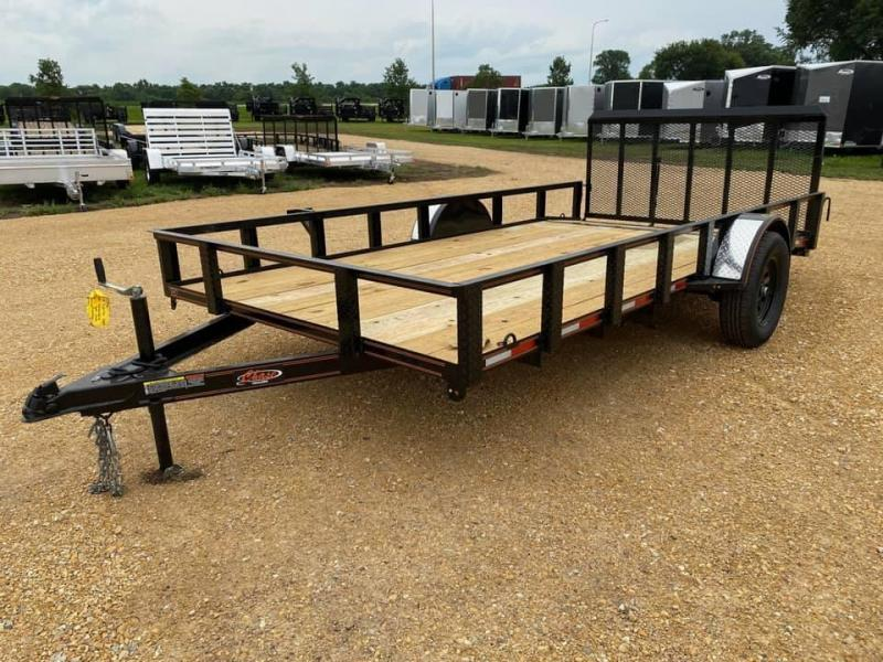 2020 Chase Trailers 7' x 14' w/ a 2' Dovetail Open Utility Trailer w/ 3' Assisted Gate