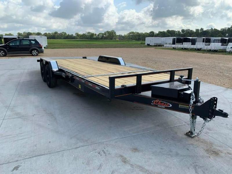 2021 Chase Trailers 22' 10K Split Deck Tilt Bed Equipment Trailer