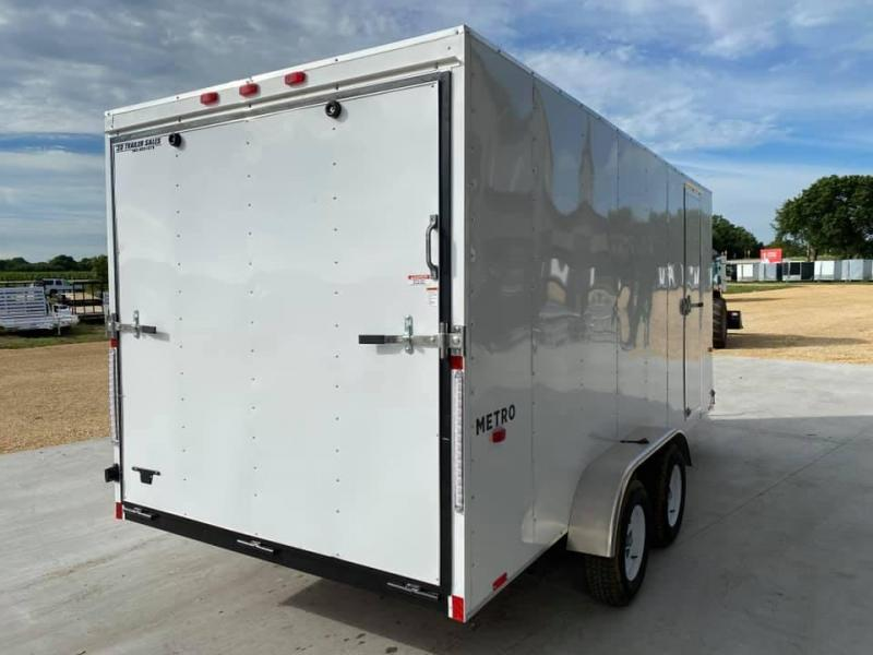 """2021 Pace American 7' x 16' x 6'6"""" Metro Enclosed Trailer"""