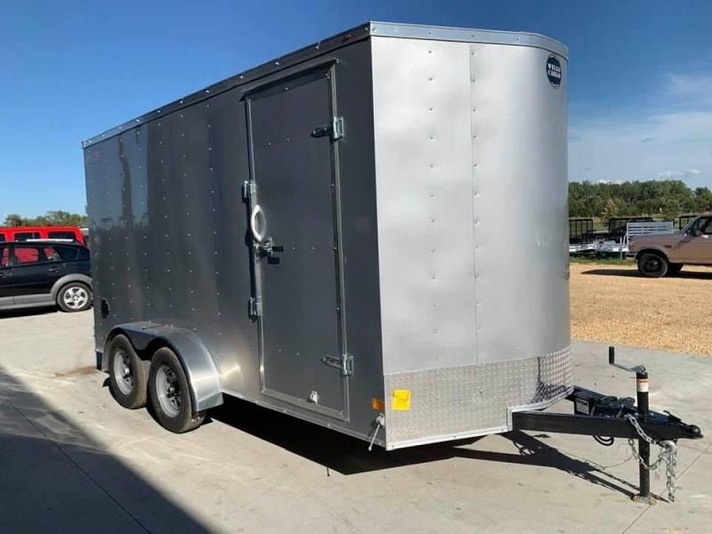 2021 Wells Cargo 7' x 14' x 7' Fast Track Deluxe Wedge Front UTV Enclosed Cargo Trailer