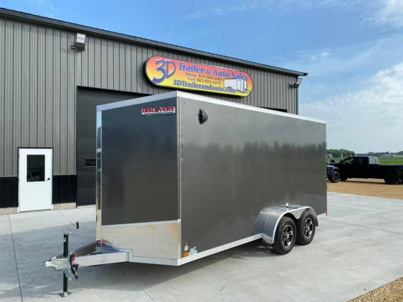 2021 Discovery 7' x 16' x 7'  Aluminum UTV PKG Enclosed Trailer w/ Ramp