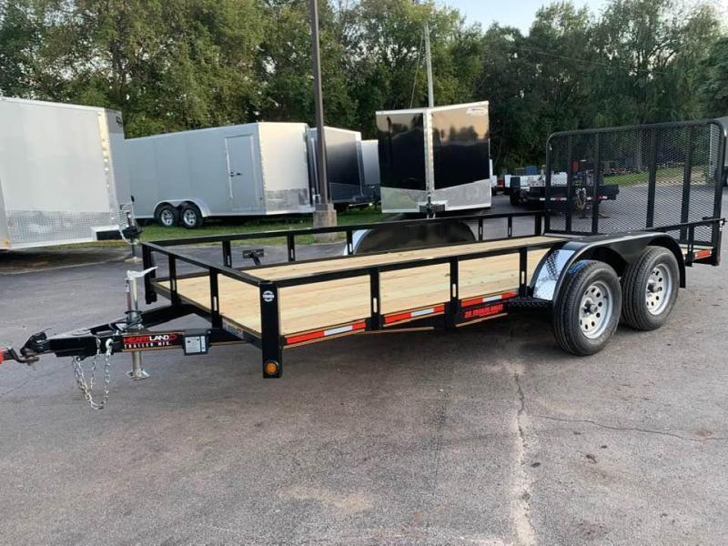 2020 Heartland 7' x 16' Tandem Axle Utility Trailer w/ 4' Rear Gate