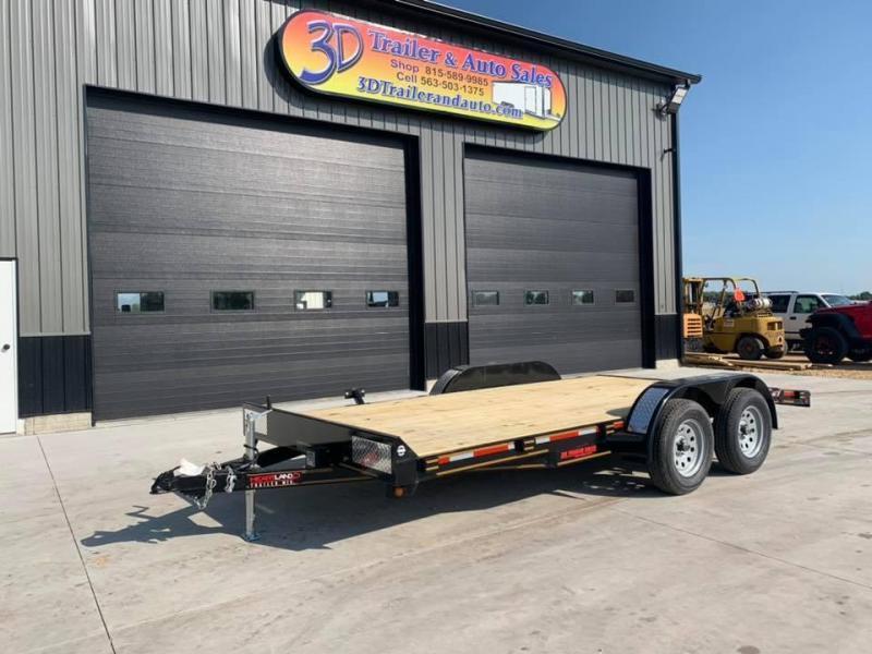 2021 Heartland 16' 7K GVWR Flat Bed Car Trailer