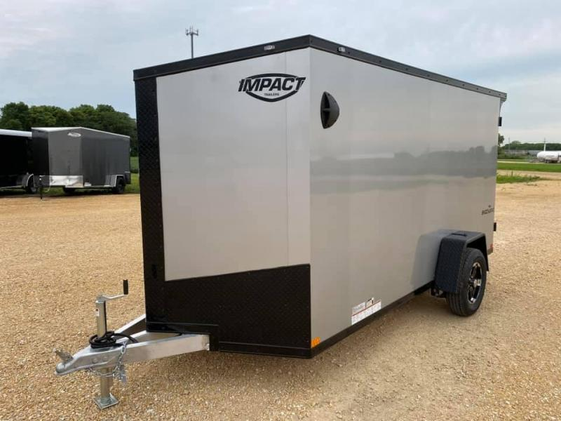 2021 Impact 6' x 12' x 6' Aluminum Shockwave Enclosed Cargo Trailer