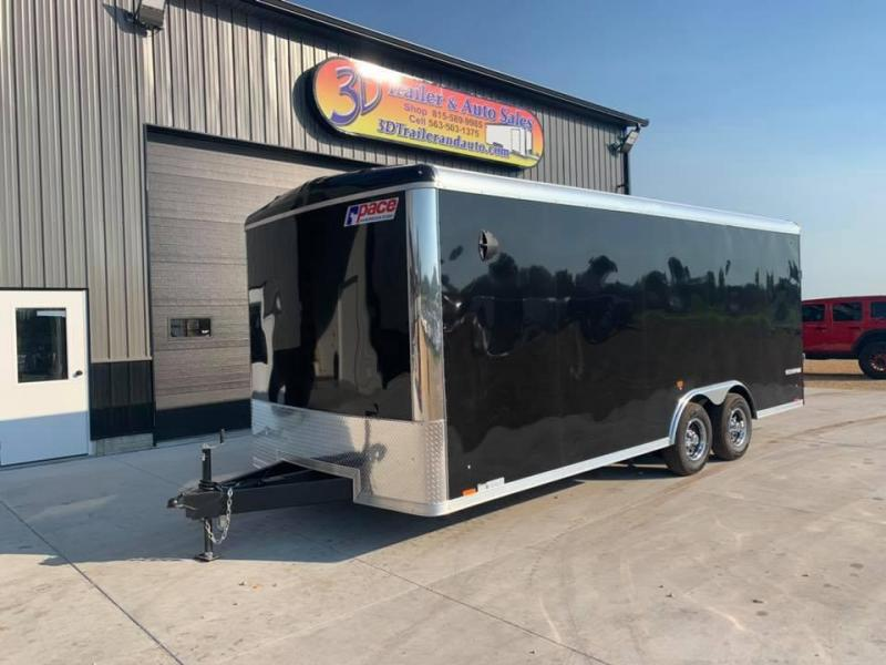 2021 Pace American 8.5' x 20' x 7' 10K GVW Cargo Sport Extra Tall PREMIUM Enclosed Trailer