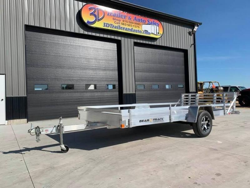 2021 Bear Track 80 X 14 All Aluminum Utility Trailer w/ Bifold Utility Trailer