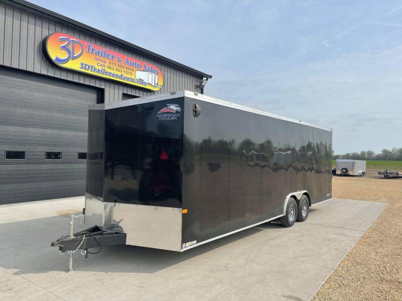 2021 AMERICAN HAULER 8.5' x 24' x 7' NIGHT HAWK 10K GVWR Race Car Enclosed Trailer
