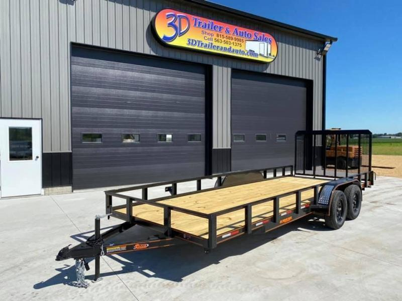 2021 Chase Trailers 7' x 20' w/ 4' Assisted Gate Open Utility Trailer