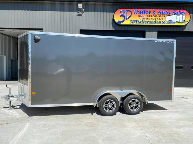 "2021 CARGO PRO 7.5' X 16' X 6'10"" Stealth Ramp Door Extra Tall Aluminum Enclosed Cargo Trailer"
