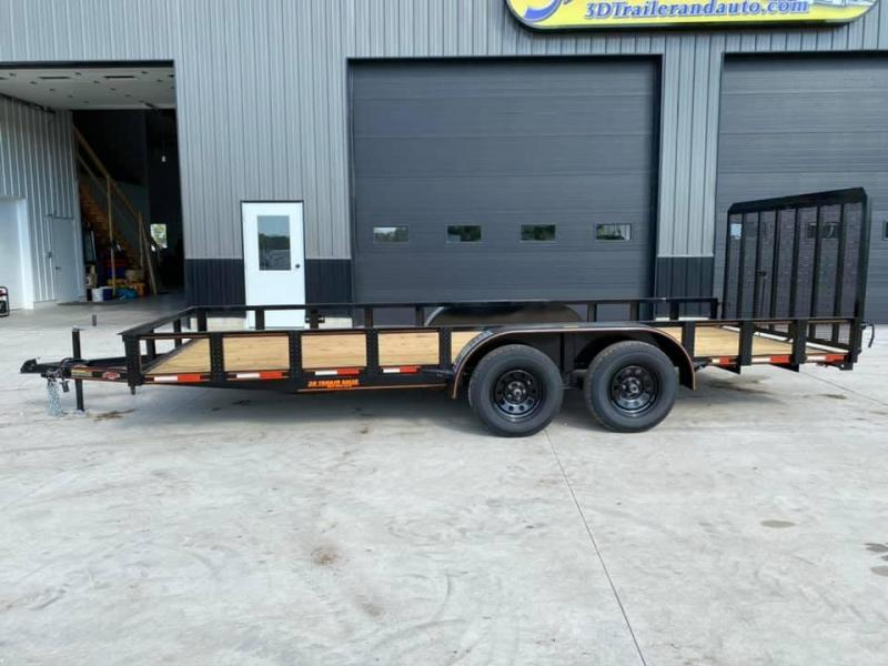 2020 Chase Trailers 7' x 18' w/ 4' Assisted Gate Open Utility Trailer