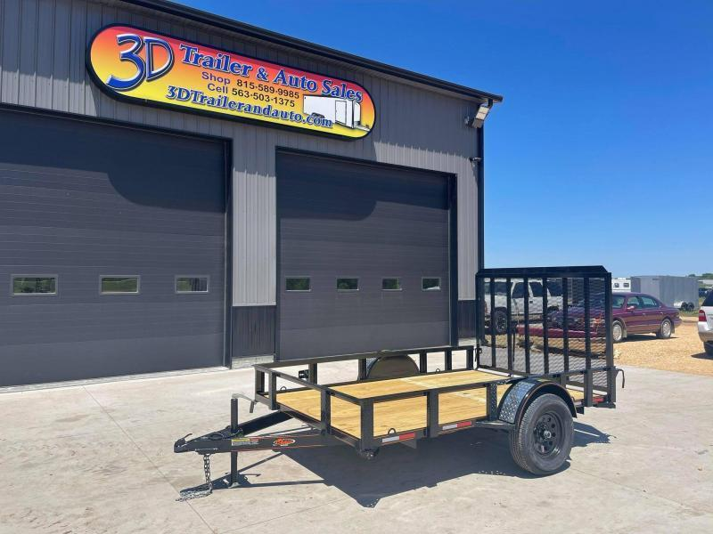 2021 Chase Trailers 6.5' x 10' Open Utility Trailer w/ 4' Assisted Gate