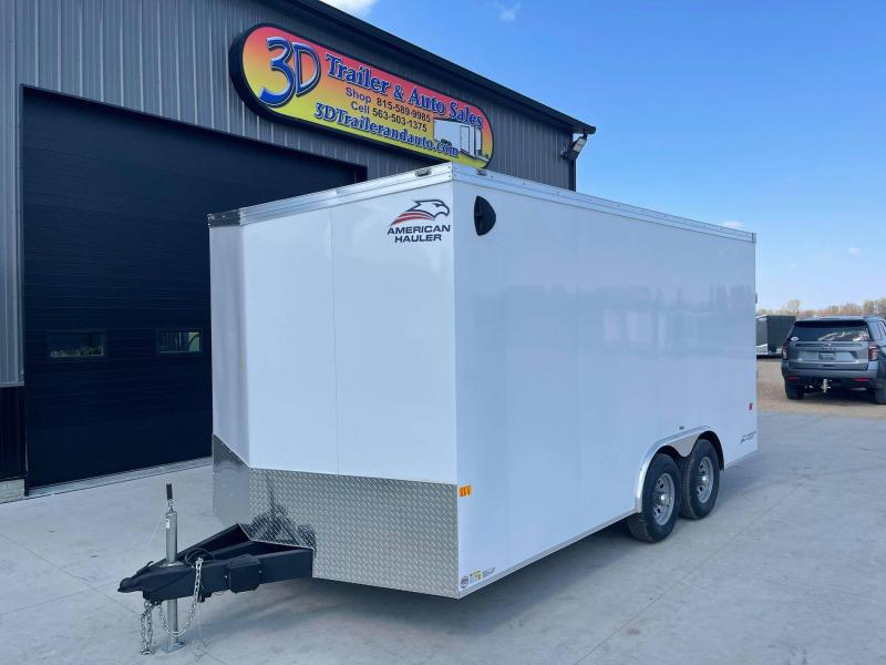 2021 AMERICAN HAULER 8.5' x 16' x 7' NIGHT HAWK 10K GVWR Race Car Enclosed Trailer