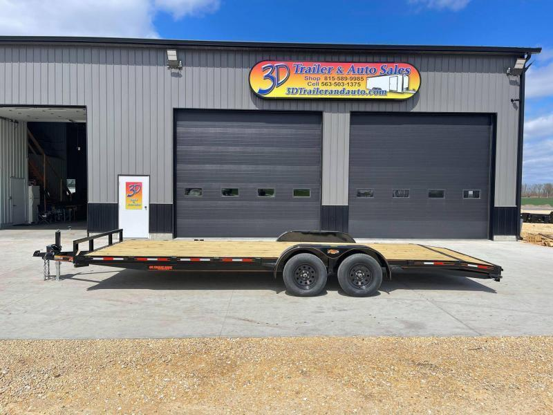 2021 Chase Trailers 22' 7K Loaded Flatbed Car Trailer