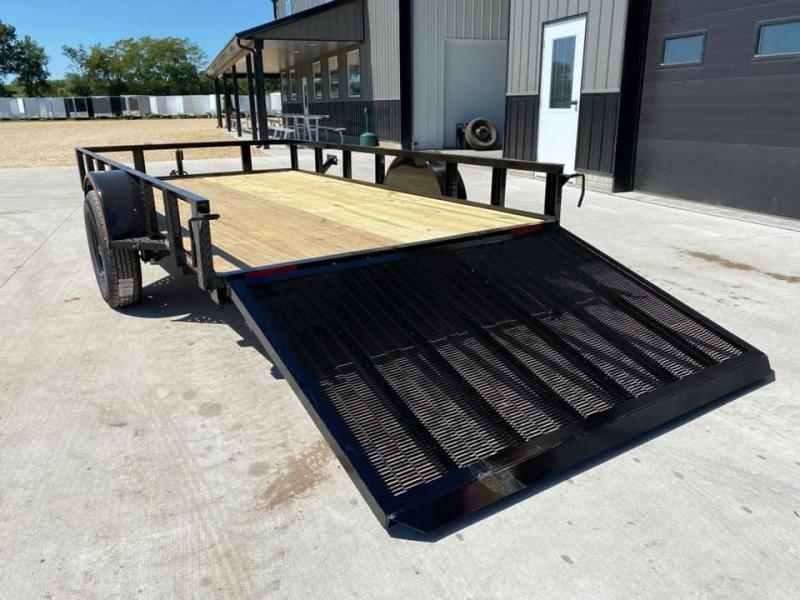 2021 Chase Trailers 6.5' x 12' Open Utility Trailer w/ 4' Assisted Gate