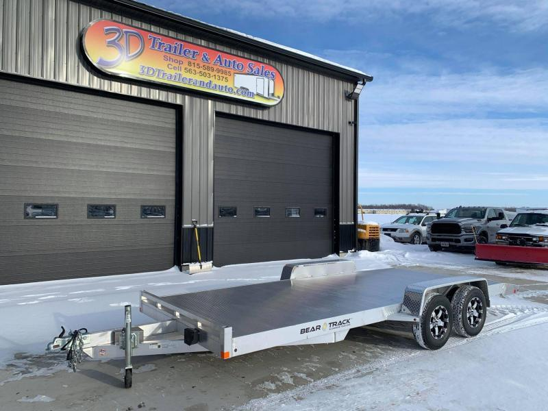 2021 Bear Track 18' 7K GVWR All Aluminum Car / Racing Trailer w/ Slideout Ramps