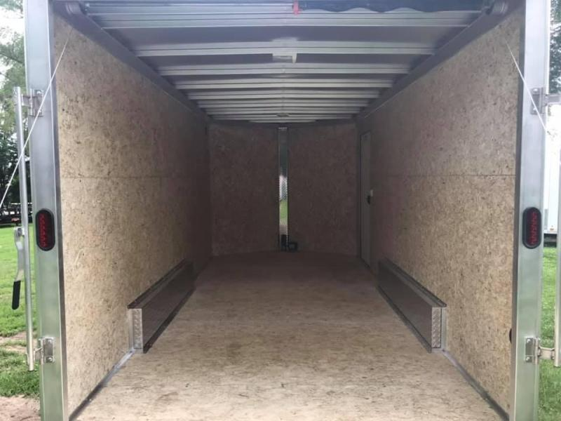 "2020 CARGO PRO 7.5' X 16' X 6'9"" Stealth Ramp Door Extra Tall Aluminum Enclosed Cargo Trailer"