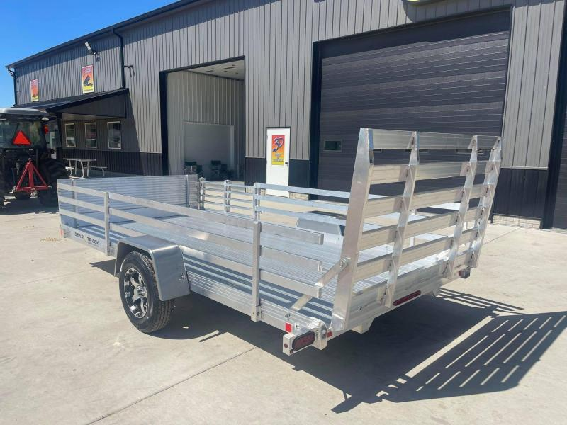 2022 Bear Track 80 X 14 All Aluminum Utility Trailer w/ Straight gate on rear and a side load Bifold Gate