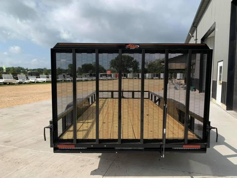 2022 Chase Trailers 7' x 16' w/ 4' Assisted Gate Open Utility Trailer