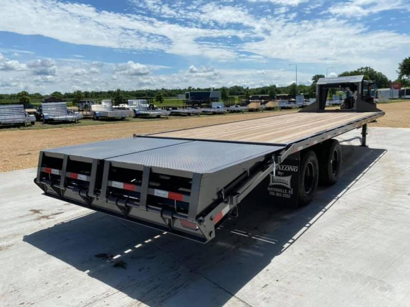 2020 Travalong 27' Gooseneck Deckover 20K GVWR w/ Full Width Monster Ramps
