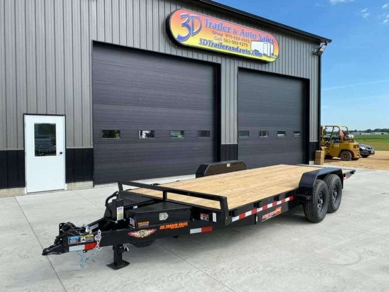 "2021 H & H 82"" X 22' 14k Speedloader EX Power Tiltbed Car / Racing Trailer"