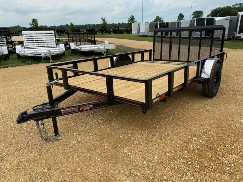 2020 Chase Trailers 7' x 12' w/ a 2' Dovetail Open Utility Trailer w/ 3' Assisted Gate