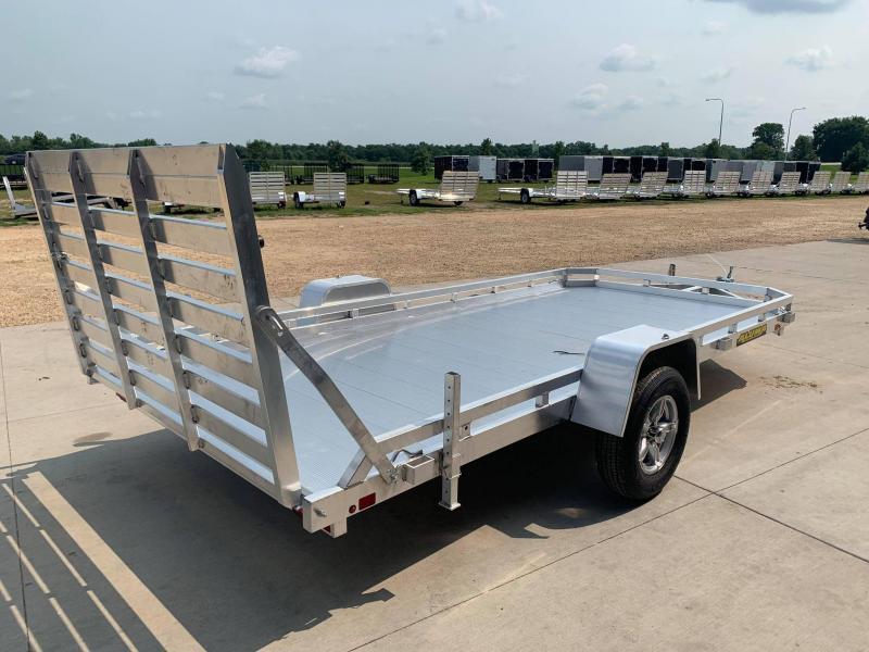 "2022 Aluma 78"" x 14' Straight Gate Aluminum Open Utility Trailer"
