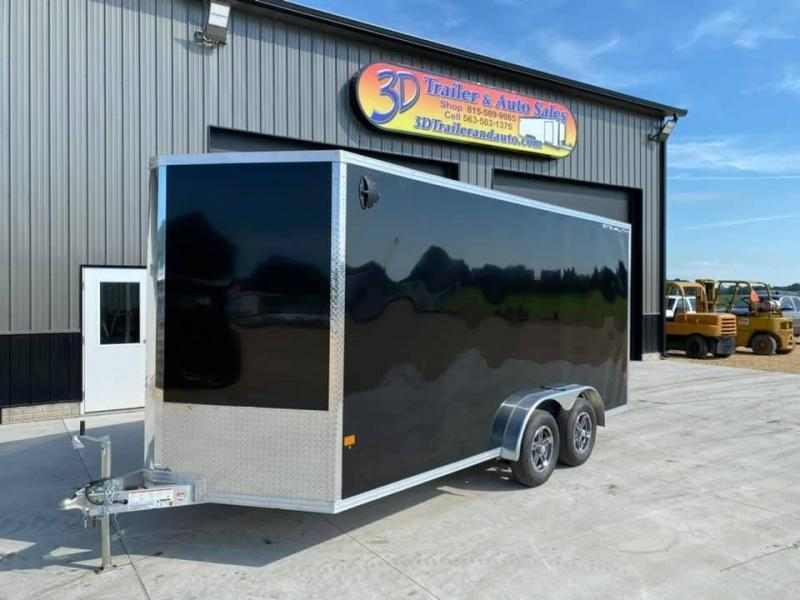 "2021 CARGO PRO 7.5' X 16' X 6'9"" Stealth Ramp Door Extra Tall Aluminum Enclosed Cargo Trailer"