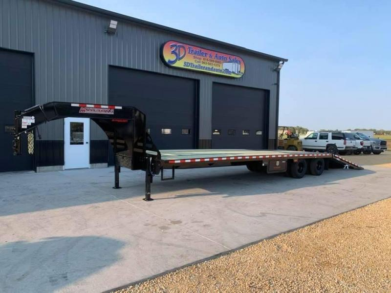 "2021 Midsota FB 102"" x 36' 25990LB GVWR Gooseneck Deckover Trailer  w/ Hydraulic Beavertail and jacks"