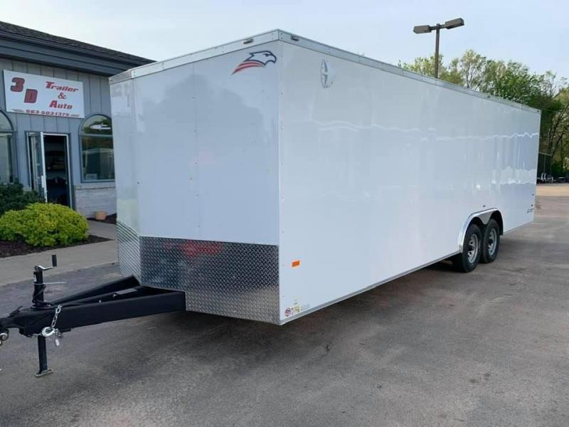 2020 AMERICAN HAULER 8.5' x 24' x 7' NIGHT HAWK 10K GVWR Race Car Enclosed Trailer