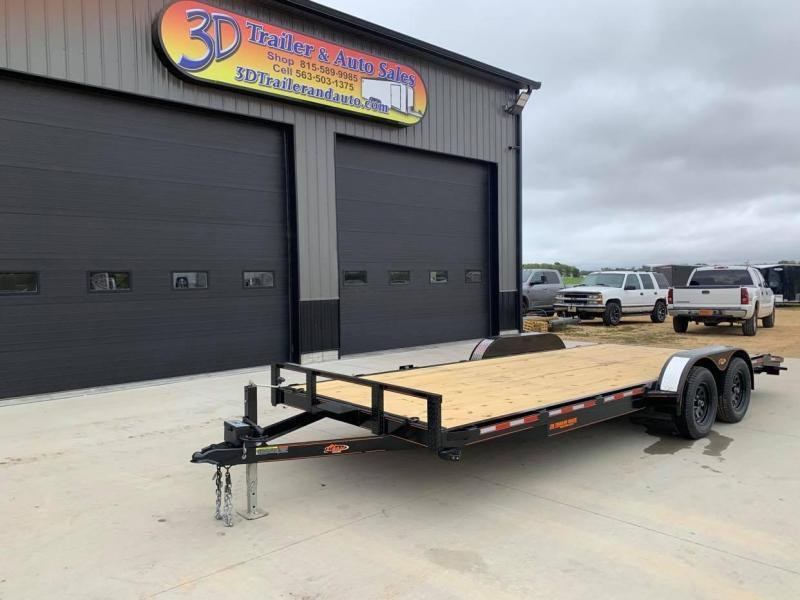 2022 Chase Trailers 20' 7K Loaded Flatbed Car Trailer