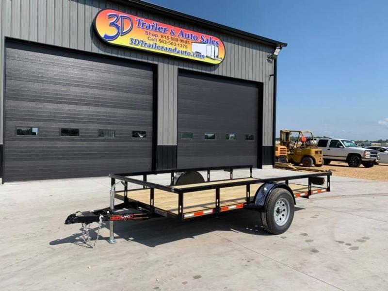 2021 Heartland 6.5 x 12' Tilt Bed Utility Trailer 3500lb GVWR