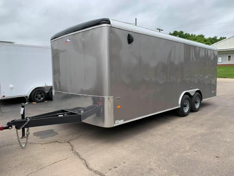 "2020 AMERICAN HAULER 8.5' x 20' x 6'6""' FALCON XC 10K GVWR Enclosed Trailer"