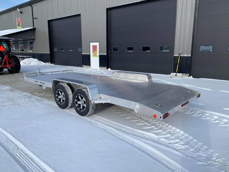 2022 Bear Track 20' 7K GVWR All Aluminum Car / Racing Trailer w/ Slideout Ramps