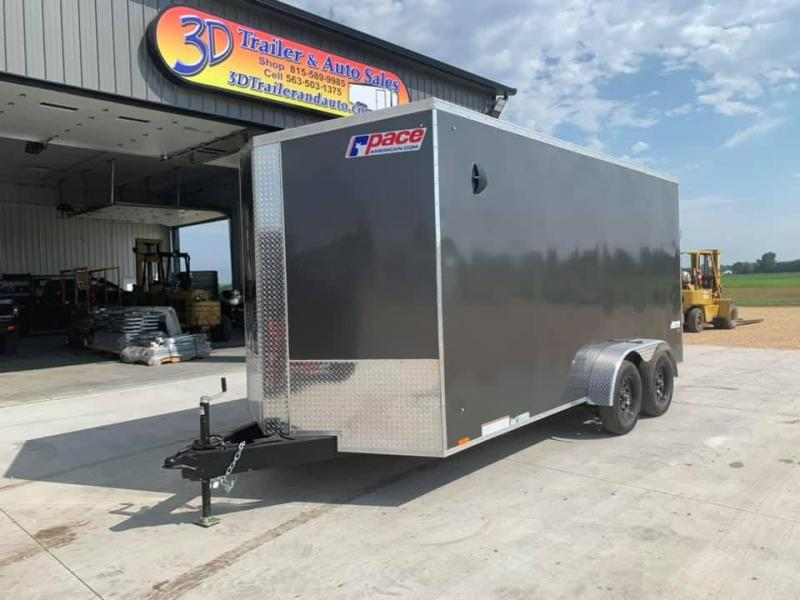 "2021 Pace American 7' x 16' x 6'6"" Journey SE Enclosed Trailer"