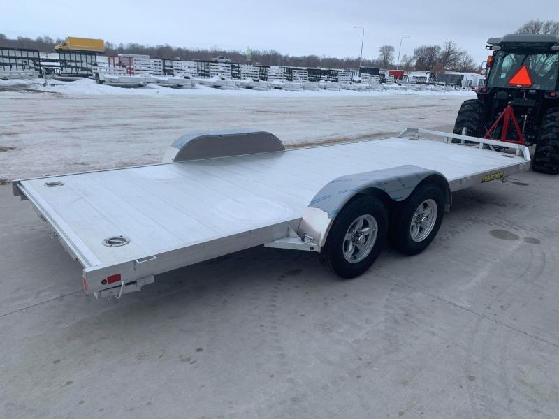 "2022 Aluma 82"" x 18' 7K GVWR All Aluminum Car / Racing Trailer w/ Slideout Ramps"
