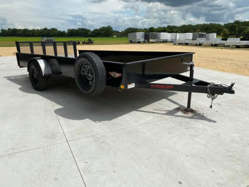 """2019 H & H 82"""" x 14' Solid Side Utility Trailer w/ Assisted Gate"""