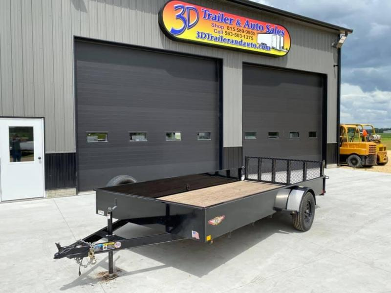 "2019 H & H 82"" x 14' Solid Side Utility Trailer w/ Assisted Gate"