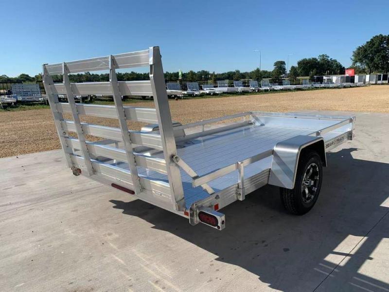 "2021 Bear Track 76"" X 12' All Aluminum Utility Trailer w/ Straight Gate"