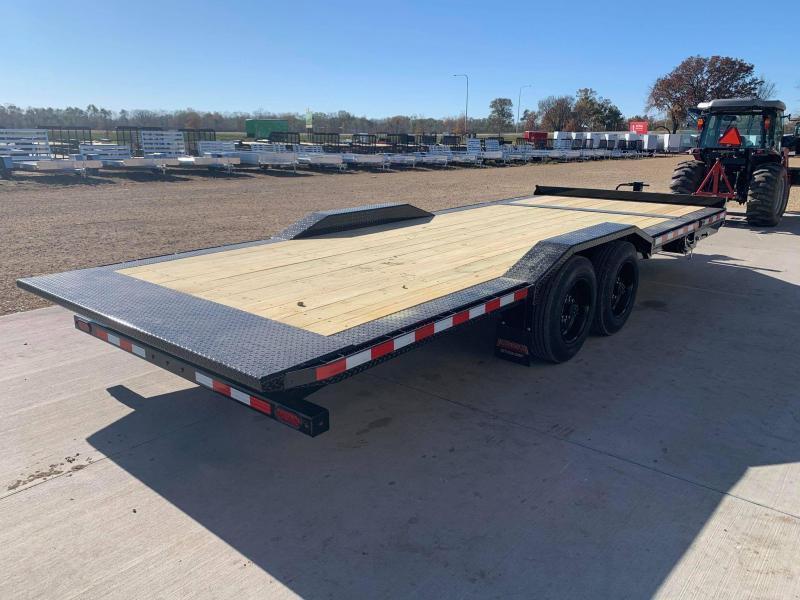 "2021 Midsota TBWB 102"" x 22' 17600LB GVWR Wide Body Drive Over Fenders Tilt Bed Equipment Trailer"